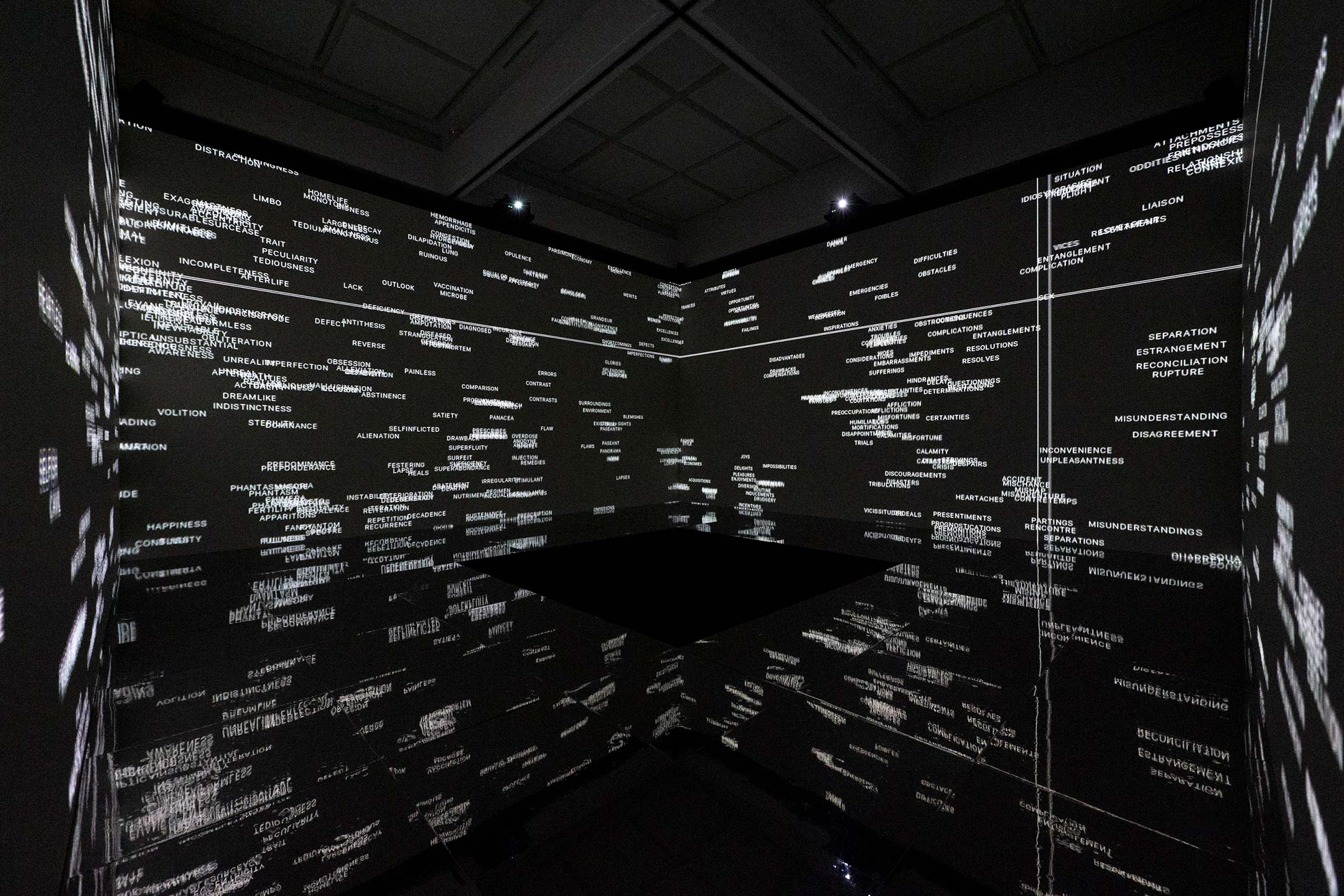 Dumb Type 《TRACE/REACTⅡ》 2020 「ダムタイプ|アクション+リフレクション」展示風景 2020年 東京都現代美術館 撮影:福永一夫